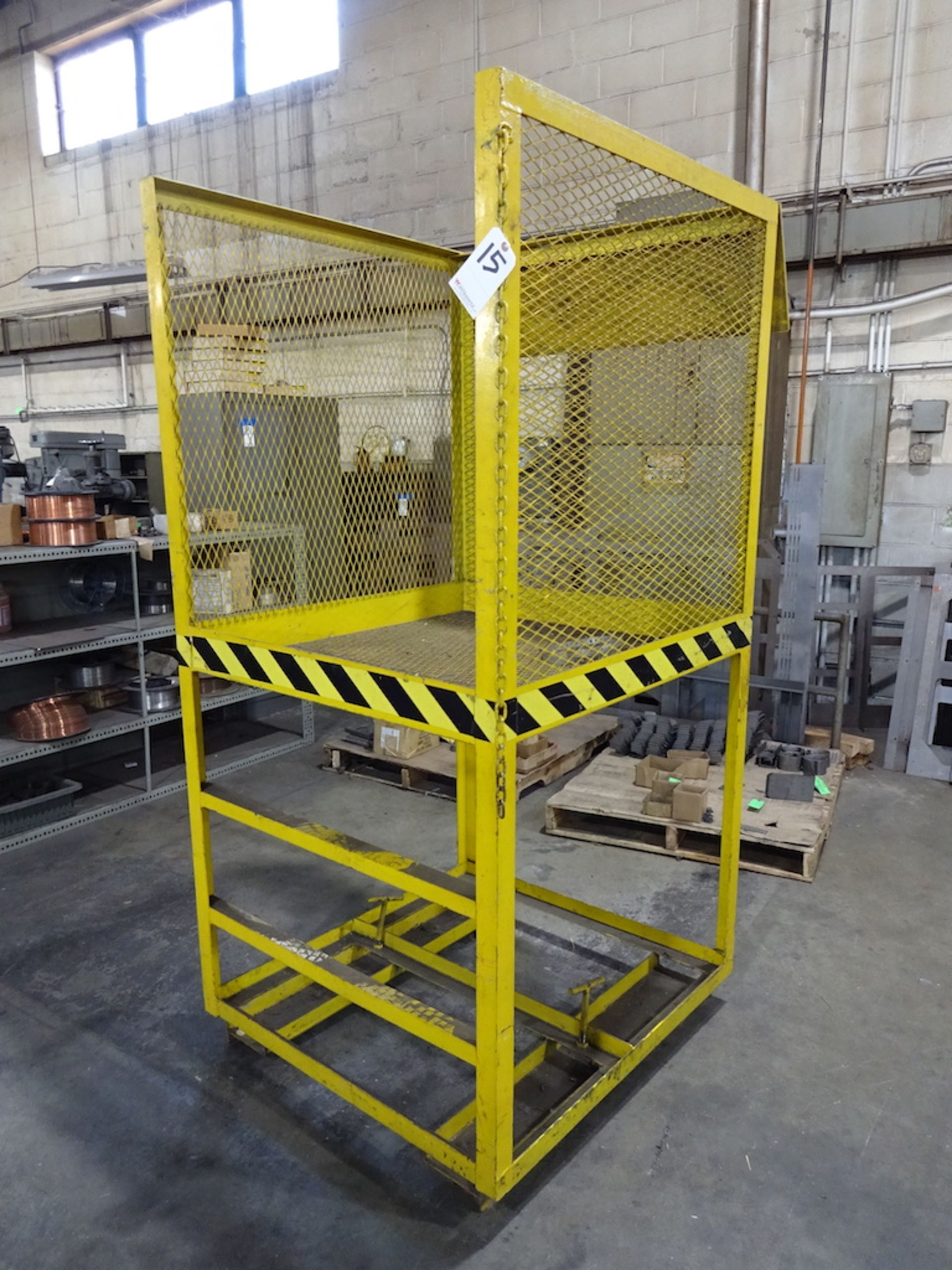 Lot 15 - 38 in. x 41 in. Forklift Work Platform