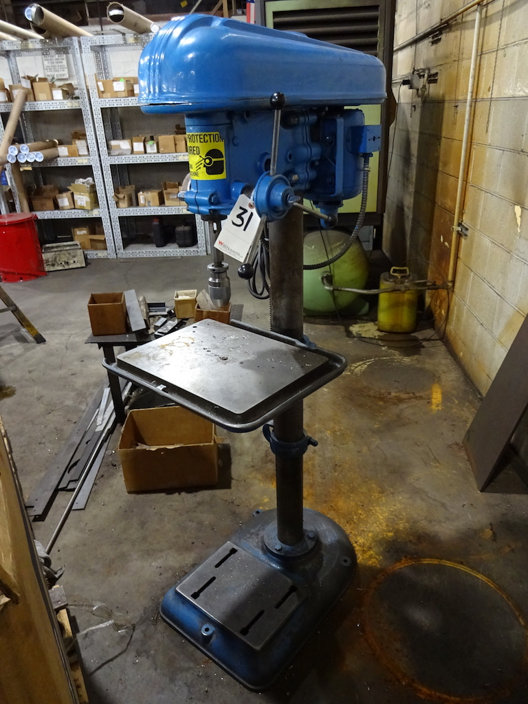 Lot 31 - Rockwell 17 in. Floor Type Drill Press, S/N 95-4598, 17 in. x 12-1/2 in. Table, 3/4 HP, 115/230