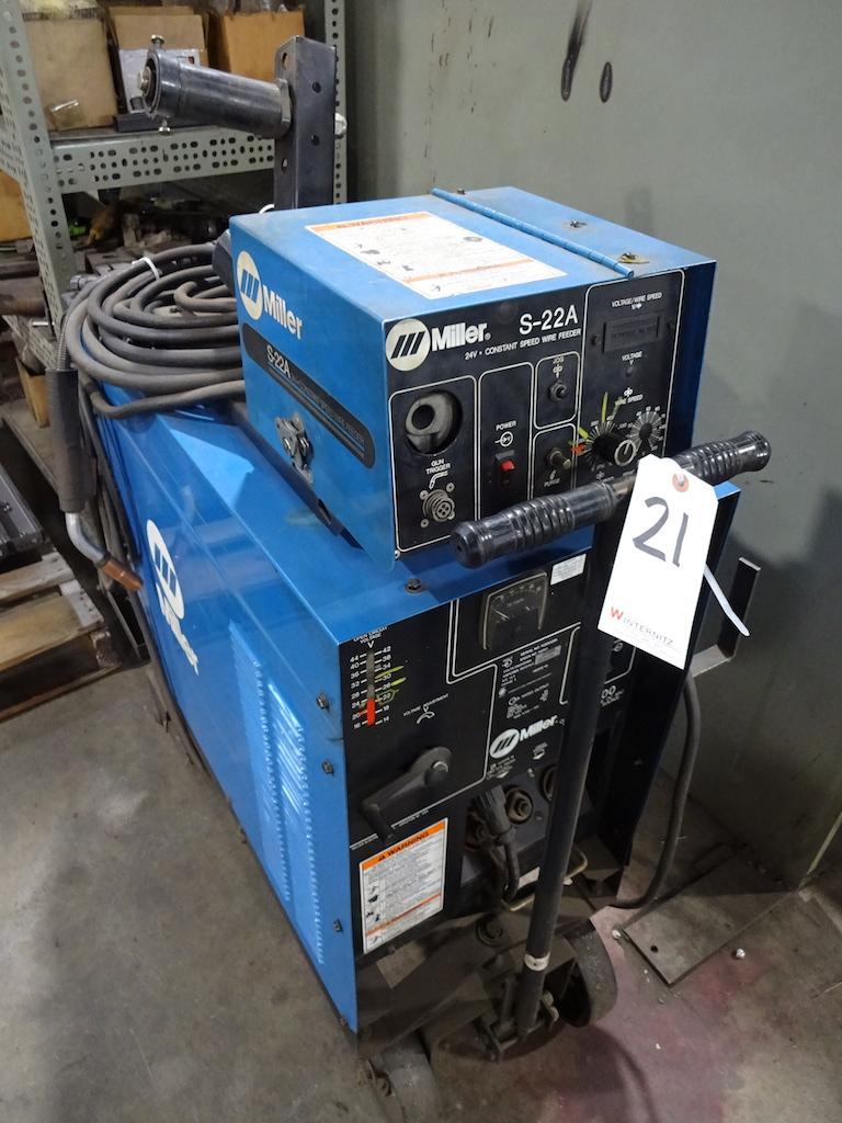 Lot 21 - Miller CP-300 Constant Voltage DC Arc Welding Power Source, S/N KG053259, Miller S-22A 24 Volt