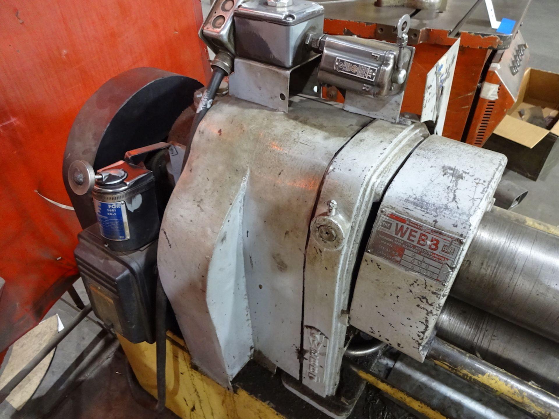Lot 42 - Webb 6 ft. x 12 ga. Model 2L Bending Roll, S/N 620, 5 in. Dia. Rolls, AC Motor Controls