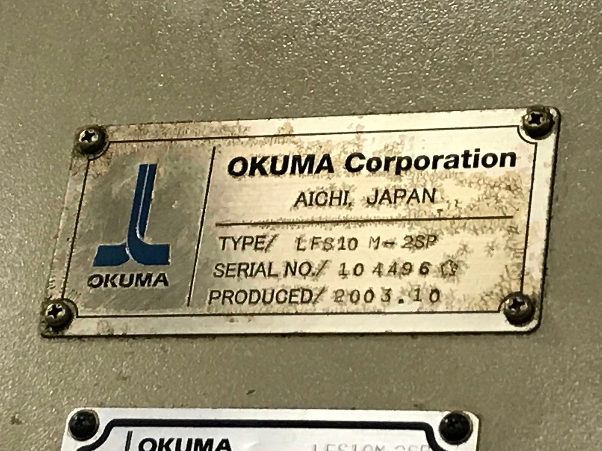 Lot 6 - OKUMA LFS10 M-2SP TWIN SPINDLE CNC LATHE WITH MILLING & GANTRY LOADER, YEAR 2003, SN 104496, LOC. IL