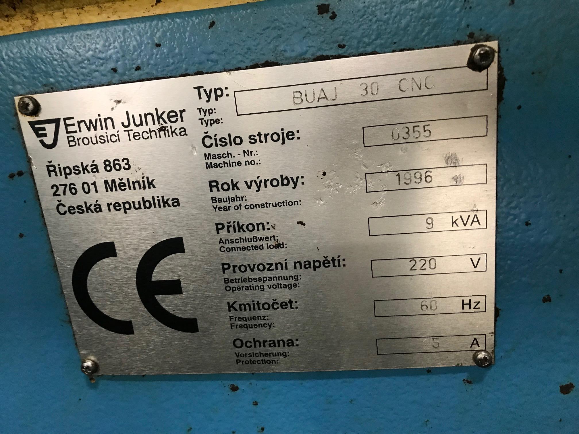 Lot 8 - ERWIN JUNKER CNC CYLINDRICAL GRINDER, MODEL BAUJ30, SN 0355, YEAR 1996, LOCATION IL