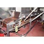 "10"" Wide x 120"" Long S/S Frame Belt Conveyor - Rigging Price $ 125"