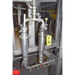 """1.5"""" S/S On-Line Filters with (2) Ball Valves - Rigging Price $ 50"""