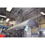"""S/S Exhaust Hood, 248"""" Long x 60"""" Long with Duct Work to Ceiling - Rigging Price $ 1500"""