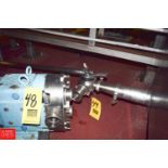 """2"""" 3-Way Plug Valve, Reducer, S/S Pipe and Clamps - Rigging Price $ 25"""