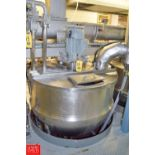 Lee 300 Gallon S/S Jacketed Kettle, Model: 3000, S/N 10955-1, 90 PSI with 7.5 HP Vertical