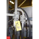 """2"""" S/S Ball Valves, (1) Air-Actuated with (5) Clamps - Rigging Price $ 25"""