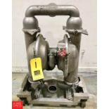 Wilden S/S Diaphragm Pump Model 15, Mounted on S/S Base with Casters - Rigging Fee $ 50