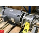 Cherry Burrell Pump Model 6 CR Mixer Cylinder : SN 64074A1, with 5 HP 1,160 RPM Motor - Rigging