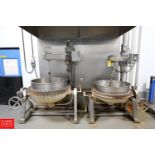 100 Gallon Steam-Jacketed Tilt Kettle with Vertical Agitation - Rigging Fee $ 100