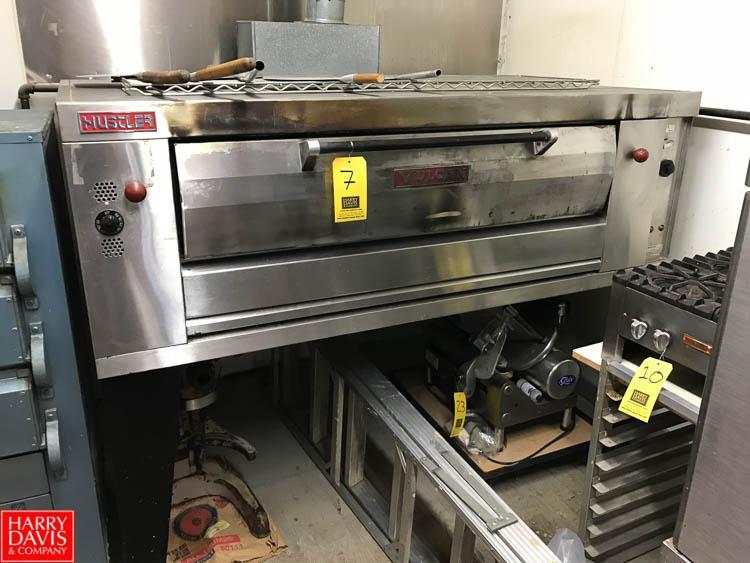 "Lot 7 - Vulcan Hustler Deck Oven, Dimensions = 6' Width x 44"" Depth x 54"" Height Rigging fee: 250"
