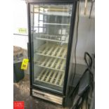 True Single-Door Reach-In Glass Refrigerator, Contact Auctioneer for Rigging Rigging fee: 50