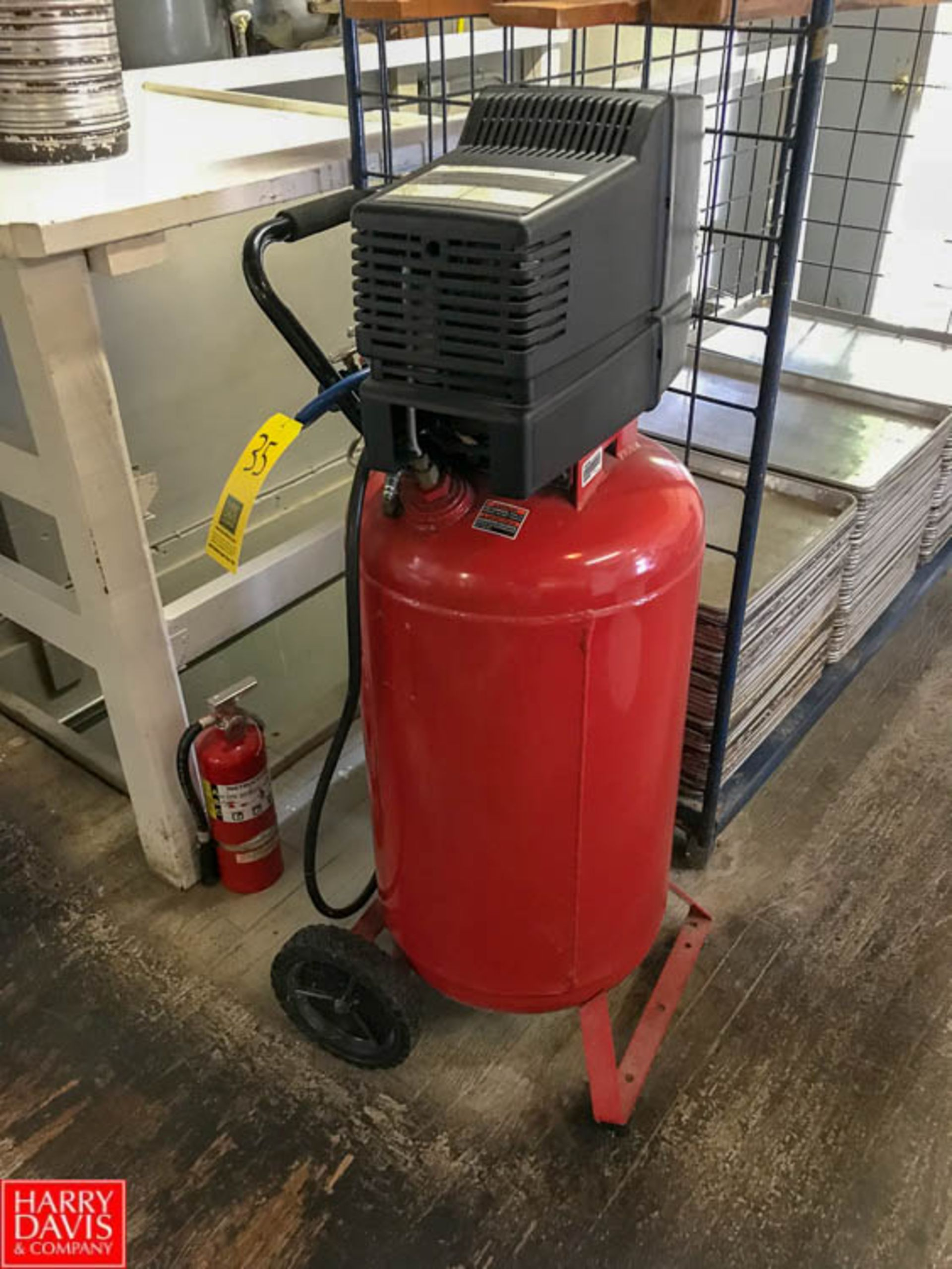 Lot 35 - Craftsman 5.5 HP Oil-Free Air Compressor Model 919.165230 with 25 Gallon Tank, Mounted on Portable