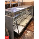 "Spartan Food Equipment Refrigerated Glass Display Case, Dimensions = 77"" Width x 30"" Depth x 4'"