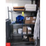 """4-Shelf Metro Rack, Dimensions = 4' Width x 2' Depth x 74"""" Height, WITH CONTENTS Rigging fee: 50"""