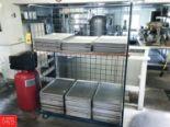 Lot 28 - Aluminum Sheet Pans and Cart Rigging fee: 25