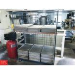 Aluminum Sheet Pans and Cart Rigging fee: 25