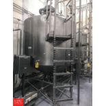 DCI 1,500 Gallon S/S Dome Top Cone Bottom Processor, S/N 90-D-40755-A with Scrape Surface