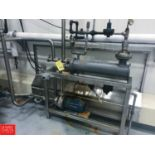 Shell and Tube Heat Exchange with Pump, Mounted on S/S Stand Rigging Fee: $ 350