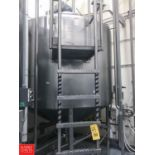 DCI 1,500 Gallon S/S Dome Top Cone Bottom Processor, S/N 90-D-40755-D with Scrape Surface