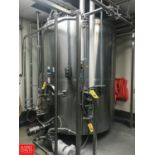 DCI 1,500 Gallon All S/S Jacketed Vertical Tank, S/N 90-D-40753-A with Vertical Agitator, Anderson