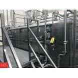 Cherry Burrell 1,000 Gallon, 2-Compartment Jacketed Flavor Tank with Air Valves Rigging Fee: $