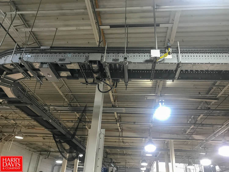 """Lot 298 - 120' South East System Power Belt, 16"""" Width Conveyor with 90 ° Turns, Incline and Drives Rigging:"""