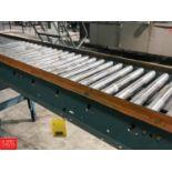 "Length Power Roller Conveyor, 16"" x 20' Length (Located in Seneca, MO) Rigging: $ 250"