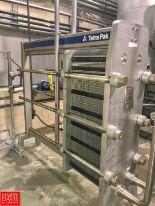 Lot 14 - Tetra Pak S/S Plate Heat Exchanger, Model C8-SH, S/N 30105-66845 (Located in Seneca, MO)