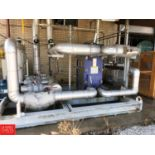 2011 GEA Skid Mounted Water Chilling System with Plate Heat Exchanger Model LWC100M-BYF-300, with (