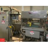 Whallon Palletizer with Conveyor and Allen Bradley Panel View 550 Controller (Located in Seneca, MO)