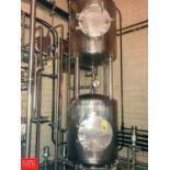 Mojonnier S/S Dual Dome-Top Dish-Bottom Hot Wells with (6) Waukesha Cherry Burrell Air Valves (