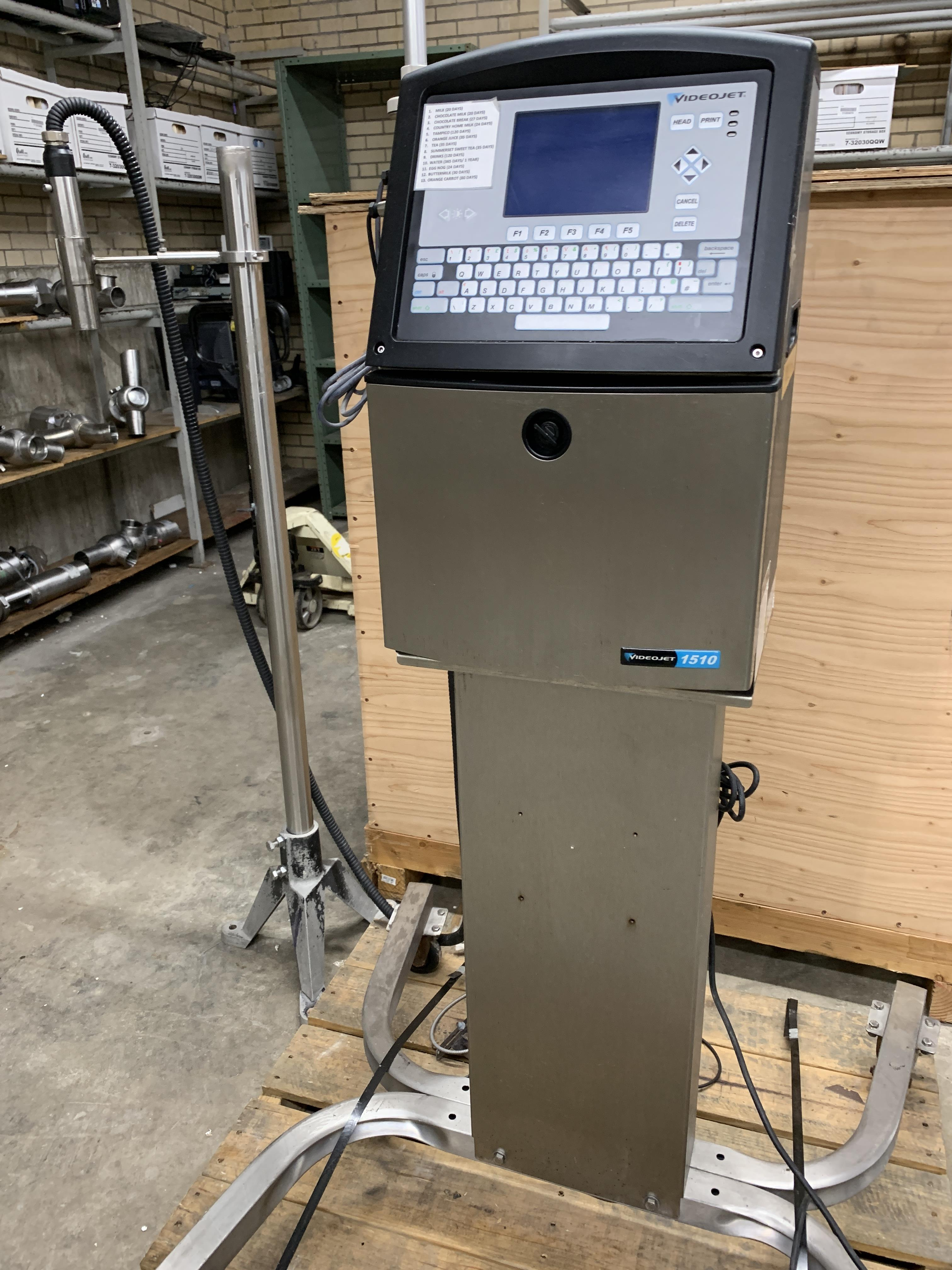 Lot 21A - 21A 1 Video Jet Ink Jet Coder Model 1510, S/N 0830801C11ZH (Located in Pittsburgh, PA)