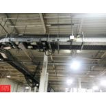 """120' South East System Power Belt, 16"""" Width Conveyor with 90 ° Turns, Incline and Drives (Located"""
