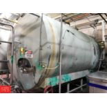 """Cherry Burrell 5,000 Gallon Jacketed S/S Tank, 8' 6"""" W x 10' 6"""" H x 15' 9"""" L with Dual Vertical"""