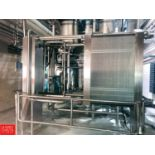 2010 AGC S/S Plate Heat Exchanger, Model AR51MS3, S/N 2010154, with Hydraulic Open and Close (