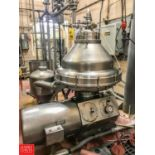 Alfa Laval CIP Separator, Model HMRPX418, with (4) S/S Air Valves, Starter and Separator Tooling (