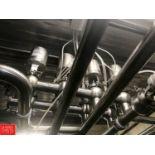 "Waukesha Cherry Burrell 2.5"" S/S Air Valves in Manifold (Located in Seneca, MO) Rigging: $ 500"