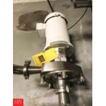 """Fristam 5 HP Pump with Baldor 1,750 RPM Motor, 2"""" x 2.5"""" S/S Head, Clamp Type, Model FPX1741 ("""