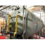 """5,000 Gallon S/S Jacketed Tank, 8' 6"""" W x 10' 6"""" H x 15' 9"""" L, with Horizontal Agitator (Located in"""