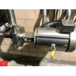 """Fristam 7.5 HP Centrifugal Pump, S/S Clad Motor, 2"""" x 2.5"""" Head, Clamp Type with Hubbell"""