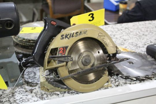 Skilsaw classic 2 12 hp electric circular saw with saw blades greentooth Images