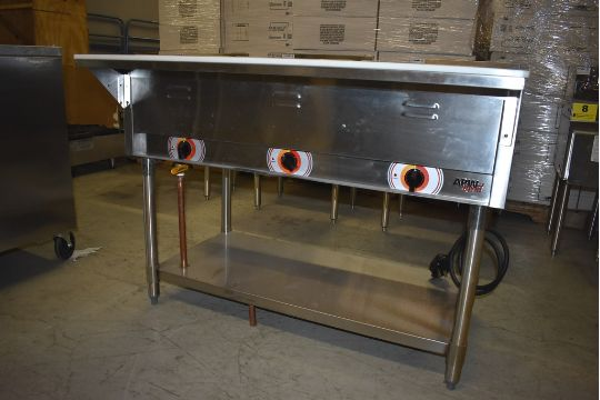 APW WYOTT MODEL SST SS COMPARTMENT HOT WELL STEAM - Apw wyott steam table