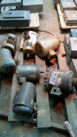 Lot 047 - Pallet of (7) 1.5-3hp motors, used but tested good, various frames 156C to 145T, all 3 ph, 480