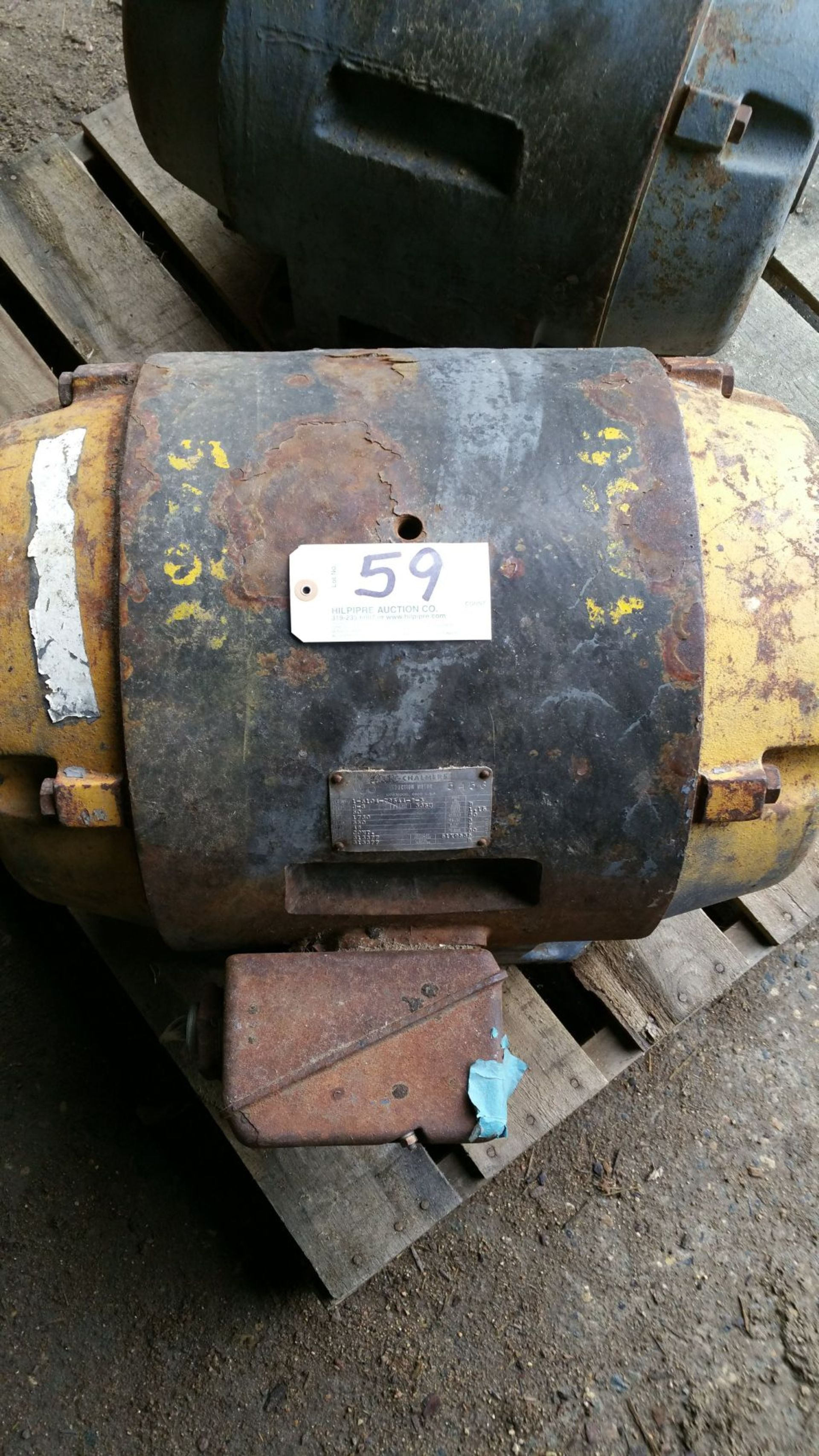 Lot 059 - 50 hp, 1750RPM, 365 U-Frame, 3 ph, 480 volt.