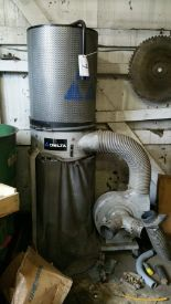 Lot 007 - Delta Duo inlet dust collector, model 50-850, sn Delta Type 3 2008-28-OI-230, 220 v.