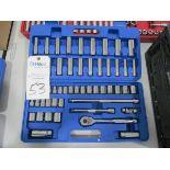 """Westward Model 6XZ83 3/8"""" Ratchet & Socket Set"""