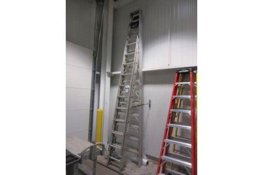 Werner Aluminum Ladders, (1) 20\' Aluminum Extension Ladder, (1) 18 ...