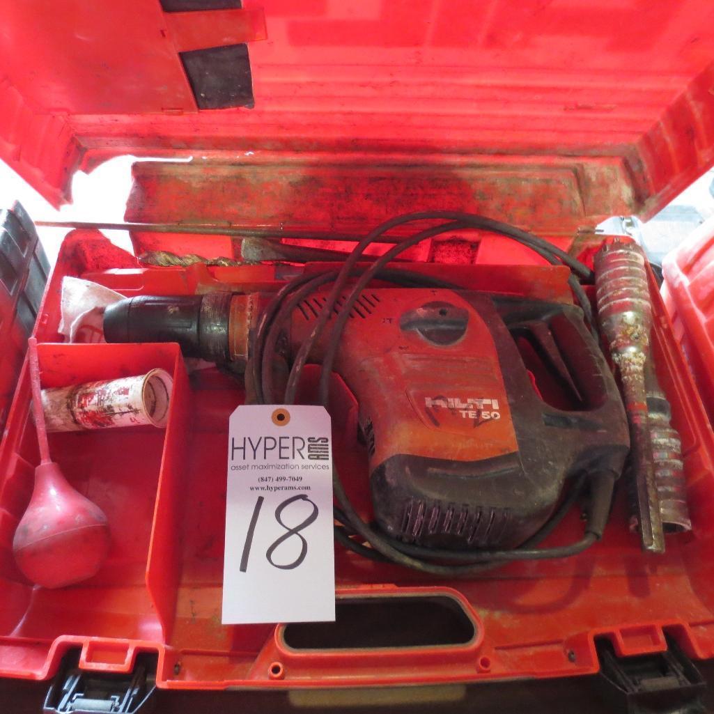 Lot 18 - Hilti TE-50 Hammer Drill